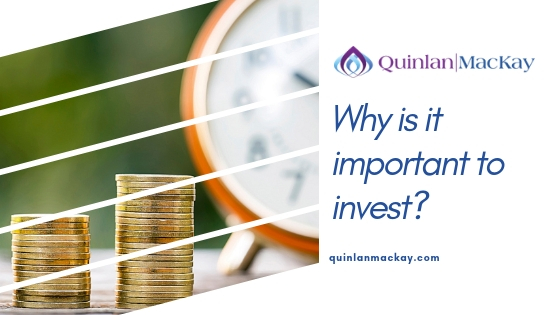 Why is it important to invest? Time and money concept with stacked coins and clock.